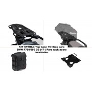 KSYST100A2 Kit TOP CASE, MALETA SYSBAG 15l. Con placa adaptadora y portaequipaje, BMW F750/850GS (17-). Para rack acero inoxidable.