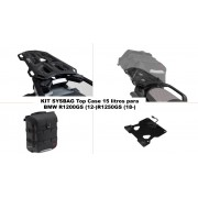 KSYST100A Kit TOP CASE, MALETA SYSBAG 15l. Con placa adaptadora y portaequipaje, BMW R1200GS LC/ADVENTURE 13-; R 1250 GS
