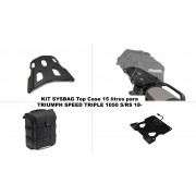 KSYST1060 Kit TOP CASE, MALETA SYSBAG 15l. Con placa adaptadora y portaequipaje, TRIUMPH SPEED TRIPLE 1050 S / RS (18-)