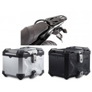 * TCTAD011 / TOP CASE. TRAX ADVENTURE (Negro/Plata) / STEEL-RACK Suzuki DL650 / V-Strom 650 XT (11-16).