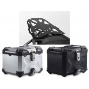 * TCTAD031 / TOP CASE. TRAX ADVENTURE (Negro/Plata) / STEEL-RACK Negro. Triumph Tiger 1050 Sport (13-).