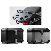 * TCTI032 / TOP CASE. TRAX ION (Negro/Plata) / STEEL-RACK Negro. Triumph Tiger 1200/ Explorer (11-).