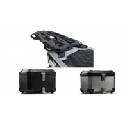* 0ATCTI005 / TOP CASE. TRAX ION (Negro/Plata) / ADV RACK Negro. BMW F 800 / 700 / 650 GS (08-).