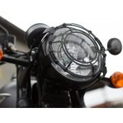 F015 Protector de luces delanteras SW-MOTECH para Triumph Bonneville T120 (15-) y Triumph Thruxton 1200 (16-)