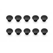 D030 Tapones. 10 piezas. Para soportes laterales EVO. Negro.