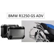 * 0MLTADPRO003B  Maletas Laterales TRAX ION (Negro/Plata) con adaptador para soportes ORIGINALES DE BMW  R1250GS Adventure (18-)
