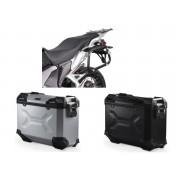 * MLTAD003 Maletas Laterales TRAX ADVENTURE (Negro/Plata) Soporte EVO Honda VFR 1200 X Crosstourer (12-)