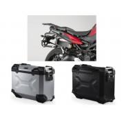 * MLTAD015 Maletas Laterales TRAX ADVENTURE (Negro/Plata) Soporte EVO Yamaha MT-09 Tracer (14-18)