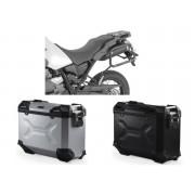 * MLTAD016 Maletas Laterales TRAX ADVENTURE (Negro/Plata) Soporte EVO Yamaha XT 660 Z Ténéré (07-16)
