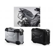 * MLTAD025 Maletas Laterales TRAX ADVENTURE (Negro/Plata) Soporte EVO Kawasaki Versys 1000 (15-16)