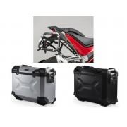 * MLTAD030 Maletas Laterales TRAX ADVENTURE (Negro/Plata) Soporte EVO Ducati Multistrada 1200 / S (15-)