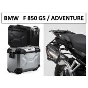 * 0MLTADPRO002 Maletas Laterales TRAX ADVENTURE (Negro/Plata) Soporte PRO BMW F850GS / Adventure (17-)