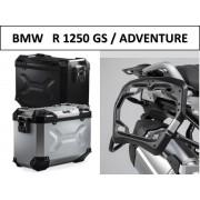 * 0MLTADPRO003 Maletas Laterales TRAX ADVENTURE (Negro/Plata) Soporte PRO BMW R1250GS / Adventure (17-)