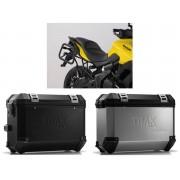 * MLTI024 Maletas Laterales TRAX ION (Plata o Negro) Soporte EVO Kawasaki Versys 650 (15-).