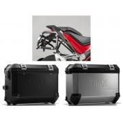 * MLTI030 Maletas Laterales TRAX ION (Plata o Negro) Soporte EVO Ducati Multistrada 1200 / S (15-)