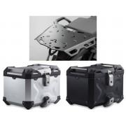 * TCTAD004 / TOP CASE. TRAX ADVENTURE (Negro/Plata) / STEEL-RACK Honda CRF 1000 L Africa Twin (15-)