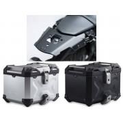 * TCTAD017 / TOP CASE. TRAX ADVENTURE (Negro/Plata) / ALU-RACK Yamaha MT-03 (16-).