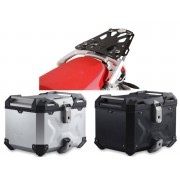 * TCTAD002 / TOP CASE. TRAX ADVENTURE (Negro/Plata) / STEEL-RACK BMW R 1200 GS (04-12).