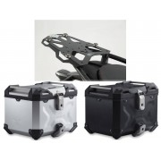 * TCTAD037 / TOP CASE. TRAX ADVENTURE (Negro/Plata) / STEEL-RACK Negro. Ducati Multistrada 1200/S, Hyperstrada.