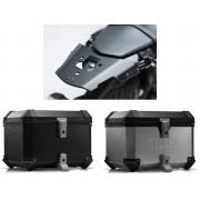 * TCTI017 / TOP CASE. TRAX ION (Negro/Plata) / ALU-RACK Yamaha MT-03 (16-).