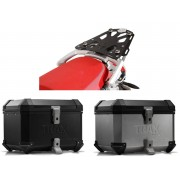 * 0ATCTI004 / TOP CASE. TRAX ION (Negro/Plata) / STEEL-RACK BMW R 1200 GS (04-12).