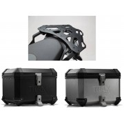 * TCTI036 / TOP CASE. TRAX ION (Negro/Plata) / ALU-RACK Ducati Multistrada 950 '17-'18, Multistrada 1200 Enduro '16-'18 & Multistrada 1260 '18