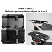 * 0ATCTIADR008 / Top Case. Trax ION (Negro/Plata) / ADVENTURE RACK (Adapta a portaequipajes original de acero) BMW F750GS