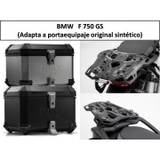 * 0ATCTIADR007 / Top Case. Trax ION (Negro/Plata) / ADVENTURE RACK (Adapta a portaequipaje original sintético) BMW F750GS