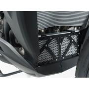 A018 Protector de aceite de radiador. Negro/Plateado. BMW S 1000 XR (15-).