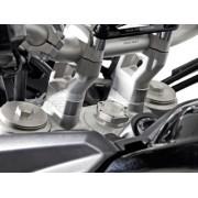 BR009 Elevador de manillar. h=20 mm. Plateado. Triumph Tiger 800/1200 modelos.