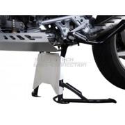 A008 Extensión protector motor para caballete central. Plateado. BMW R 1200 GS (08-12).