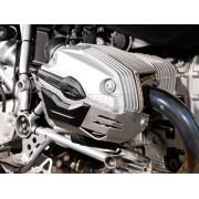 A003 Protección de cilindro. Plateado. Por pares. BMW R1200 R/ST/GS/Adventure
